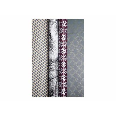 Luxe papier - Ster / grijs slinger