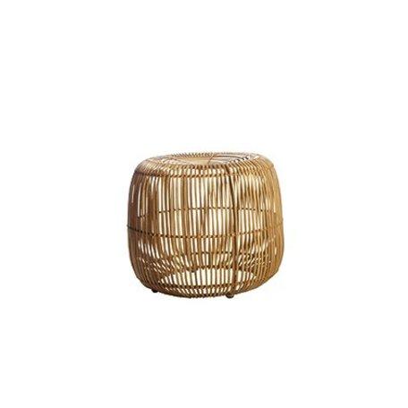Rattan pouf Modern - natural