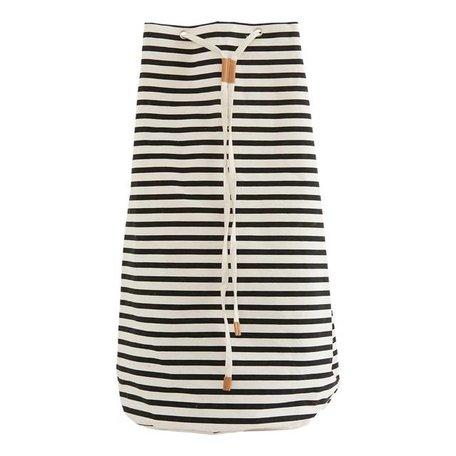 Duffle bag - black white - stripes