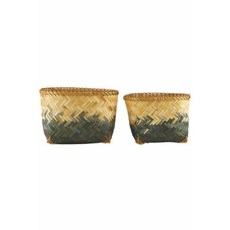 Set bamboe manden - Helene