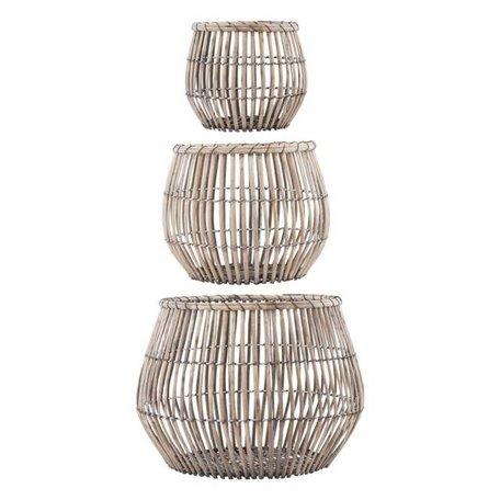 Set van 3 manden - Nest - rond