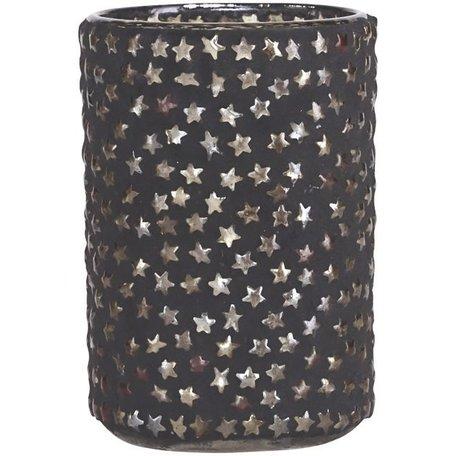 Tealight holder - plenty of star - black