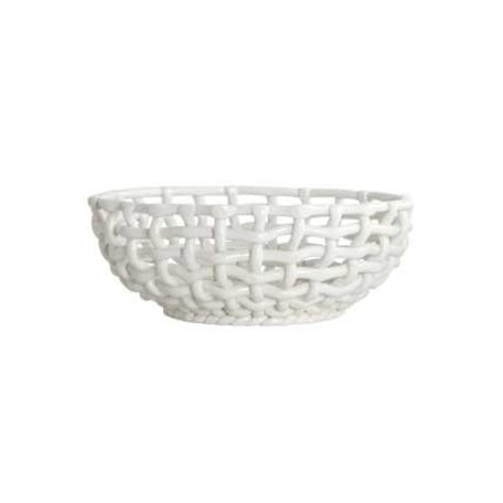 Braided bowl - white