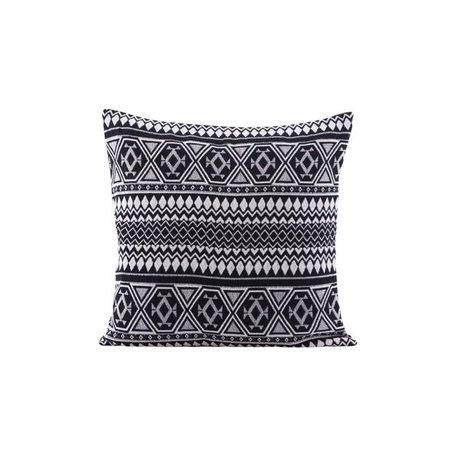 Cushion cover Indi - black white