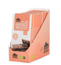 Tablet rijstmelkchocolade gepofte rijst bio 12x100g