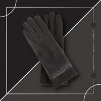 Waterdichte Leren Handschoenen - Zwart