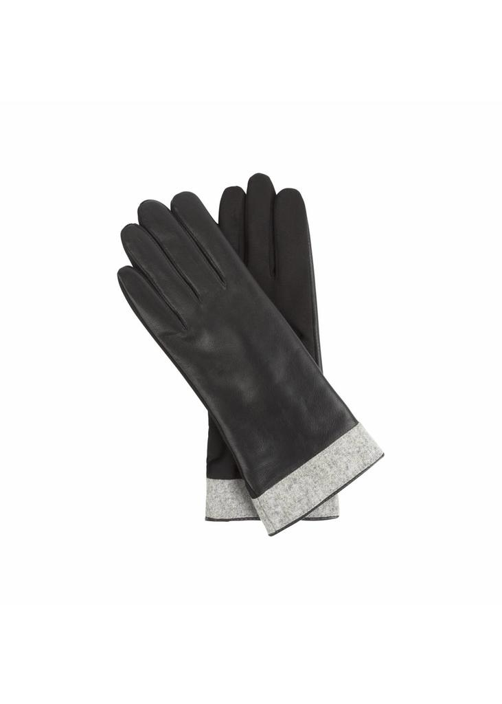 Waterproof Leather Gloves - Grey