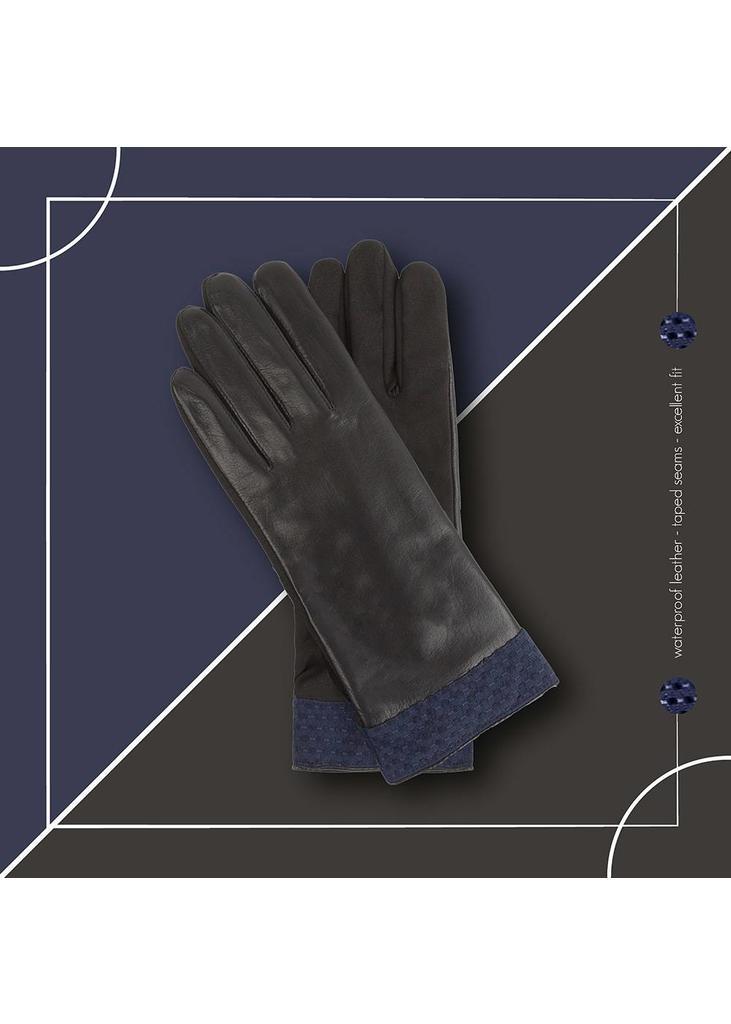waterdichte Leren Handschoenen - Navy