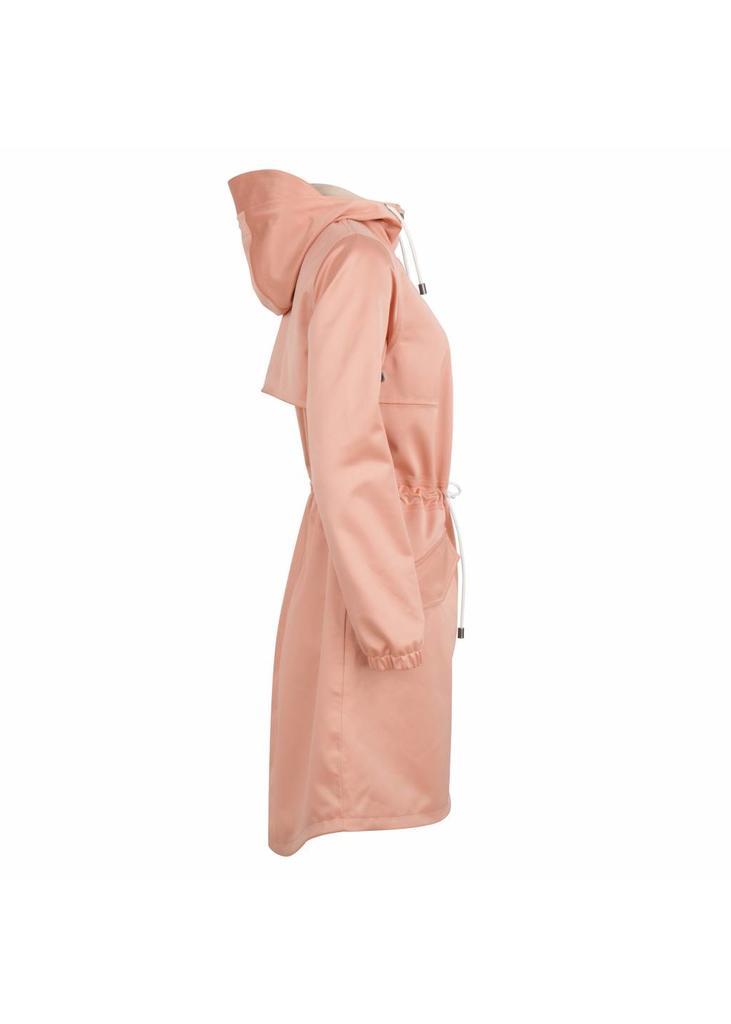 Waterdichte Regen Parka - Roze Satijn