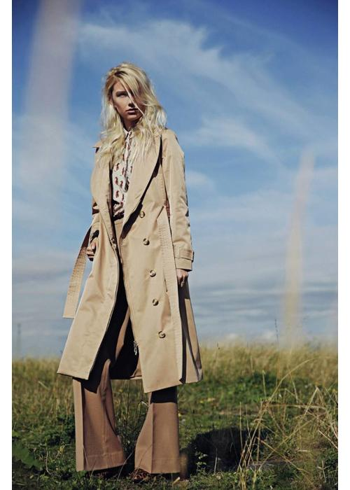 Rain Couture Long Wrap RainCoat - Camel
