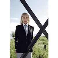 Water Resistant Blazer Jacket - black dots