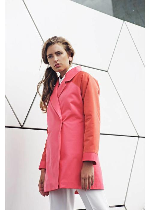 Rain Couture Colbert RainCoat - Coral