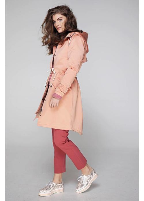 Rain Couture Rain Parka - Pink Satin
