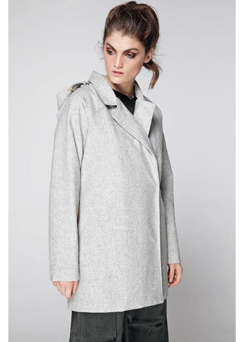Rain Couture Colbert RainCoat - Grey Wool