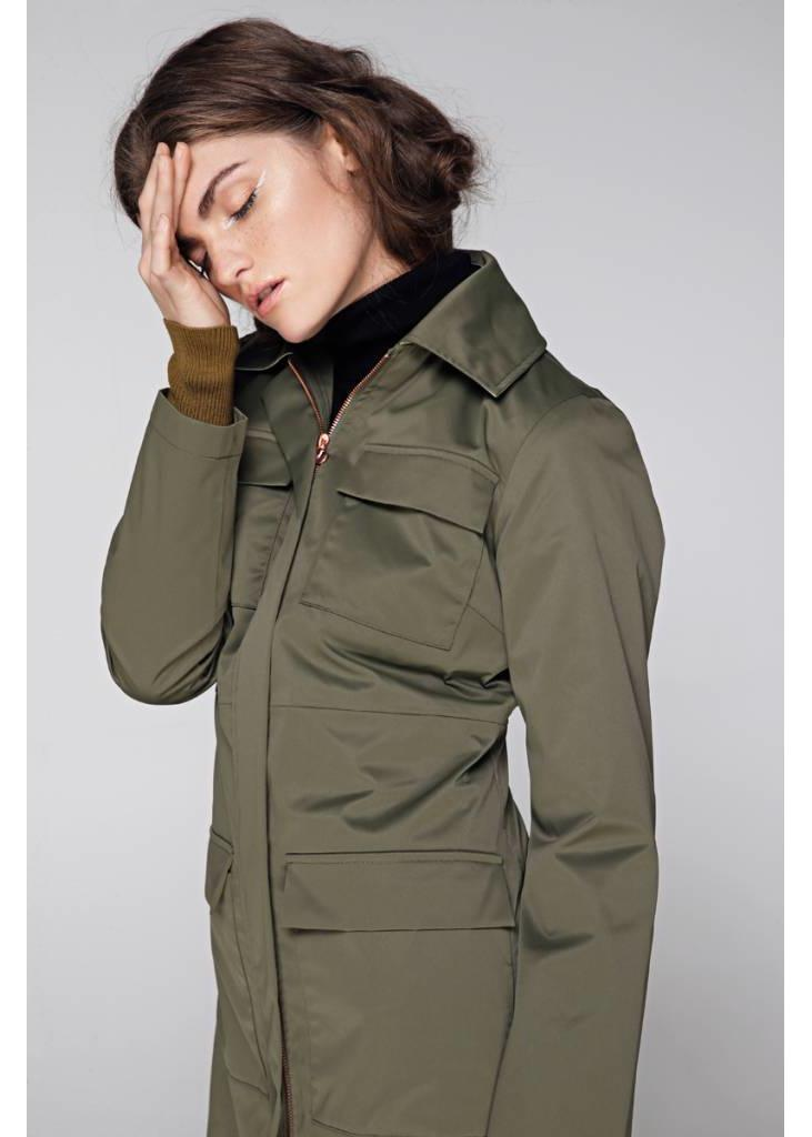 Waterproof 4-Pocket Rain Coat - Green