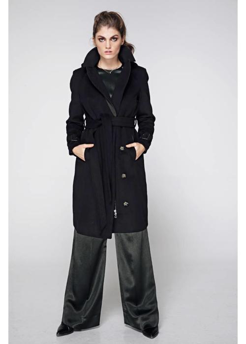 Rain Couture Waterdichte Regenjas - Zwart Wol