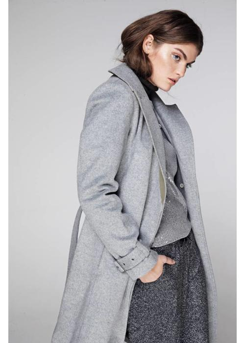 Rain Couture Rain Wrap Coat - Grey Wool