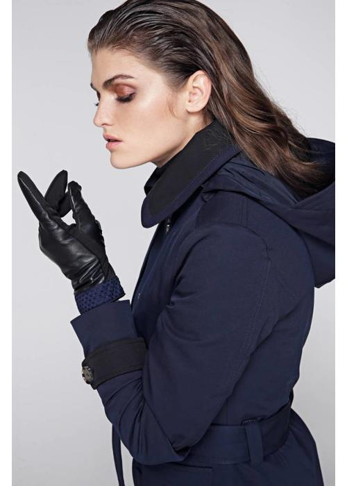 Rain Couture Waterproof Leather Gloves - Navy