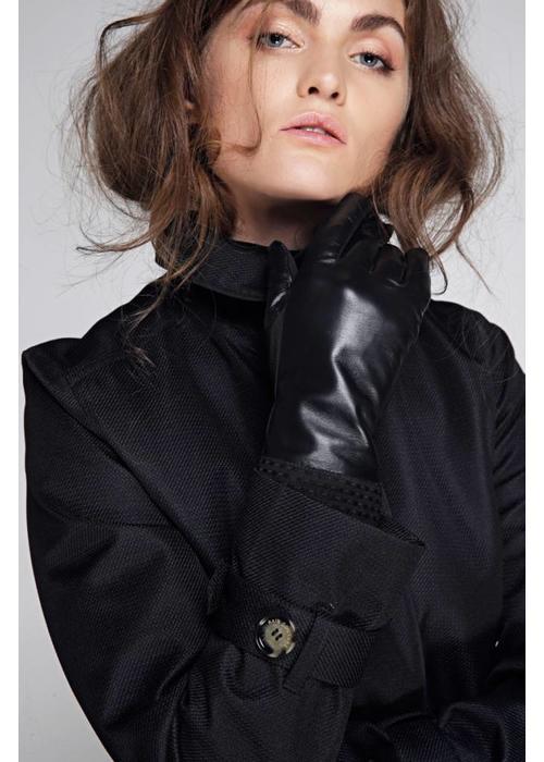 Rain Couture Waterdichte Leren Handschoenen - Zwart