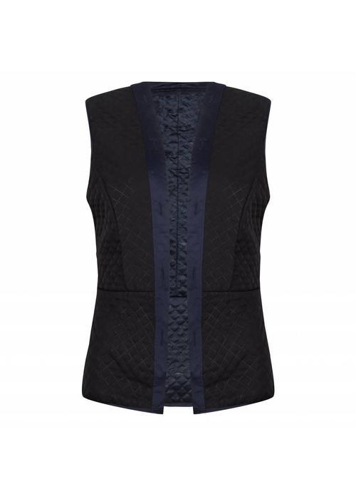 Rain Couture De Bodywarmer - Blauw/Zwart