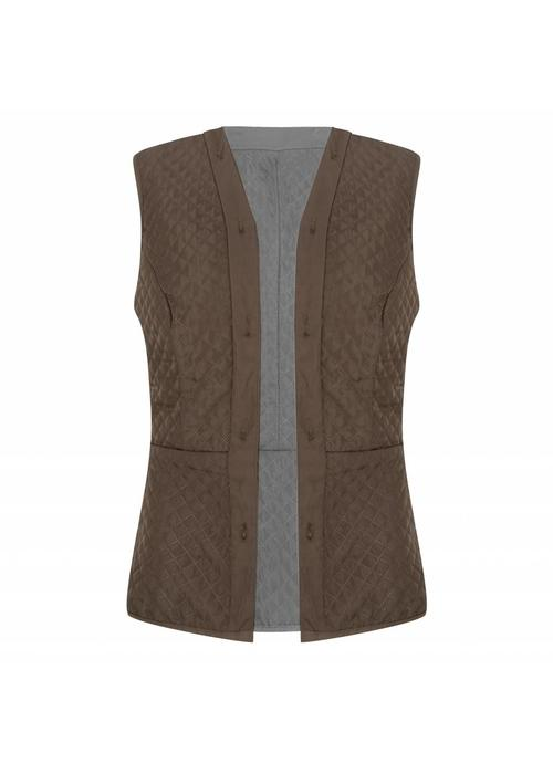 Rain Couture Reversible Bodywarmer - Green-Grey
