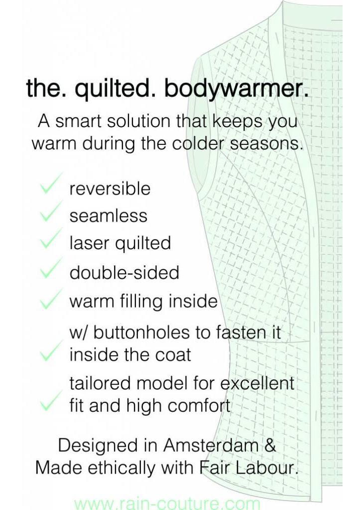 De Bodywarmer - Blauw/Zwart