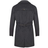 Men's Waterproof Trenchcoat - Grey Wool