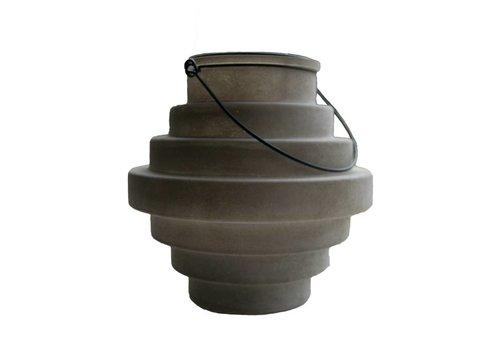 Buiten en binnen lantaarn in stapelvorm - Bruin