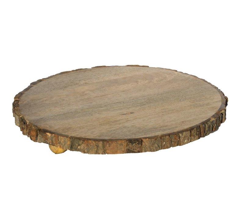 Houten Plateau 'Tree Round' Large