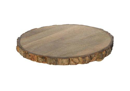 Houten Plateau 'Tree Round' Small