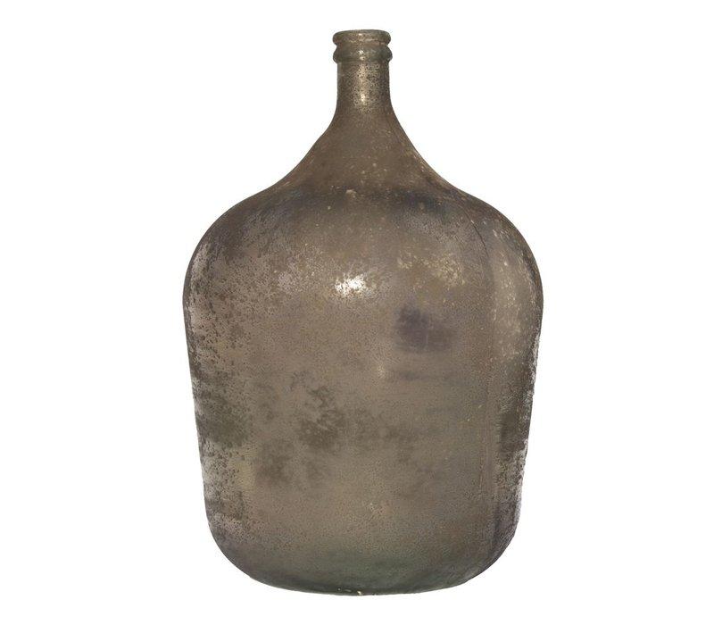 Vaas 'Garrafa Antic' in Bruin Antraciet - large