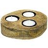Waxinelichthouder WXLH Round Wood