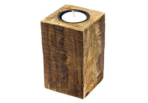 Waxinelichthouder WXLH Square Wood - large