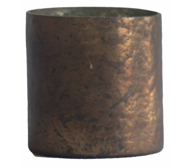 Waxinelichthouder WXLH Vintage Brons - Clinder