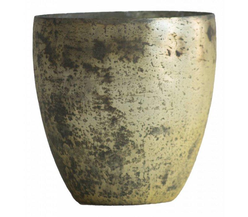 Waxinelichthouder WXLH Vintage Goud - Vaas