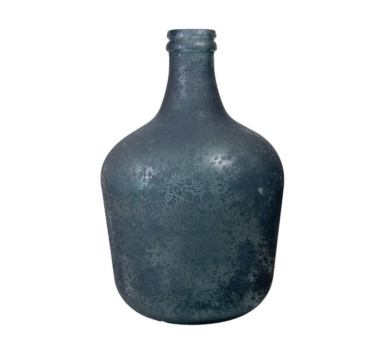 Kruik 'Garrafa antic frosted' blauw medium
