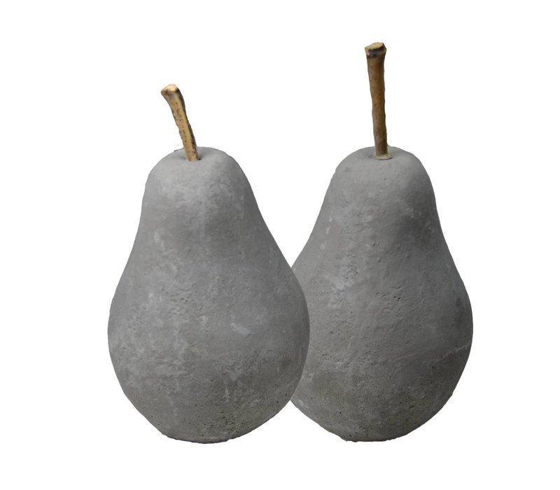 Decorative Beton Grijze Peer 'Pear'