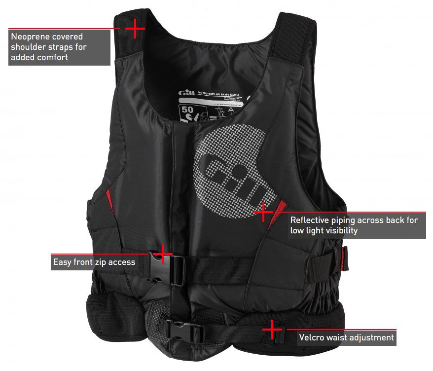 Gill zwemvest pro racer front zip