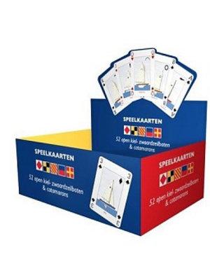 Flyer gifts Speelkaarten zeilboten