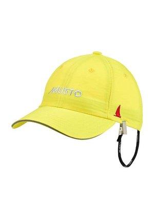 Musto Crew cap fast dry sulphur geel