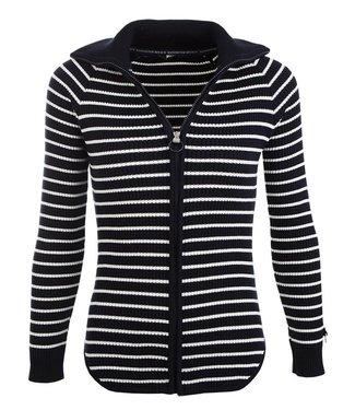 Roosenstein Vest Noya dames navy/ecru gestreept