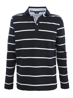 Roosenstein Polo Raf heren l/s navy/off white