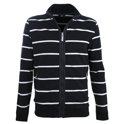 Roosenstein Vest Flint heren cardigan navy/off white