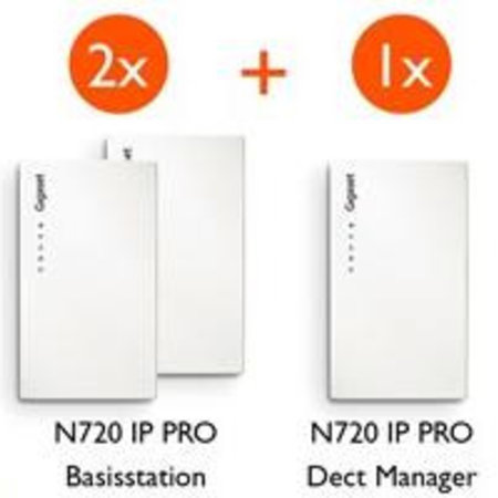 GIGASET Gigaset N720 starterkit (2x IP - 1x DM) promobundel