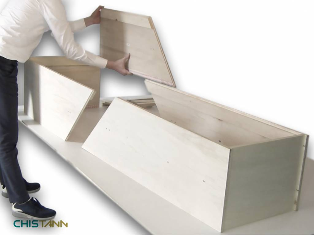CHISTANN Fully fledged eco coffin flat packed