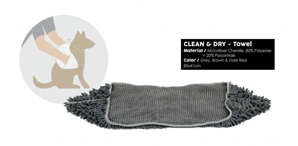 51 - Clean&Dry - Towel - Grey - 80x41cm