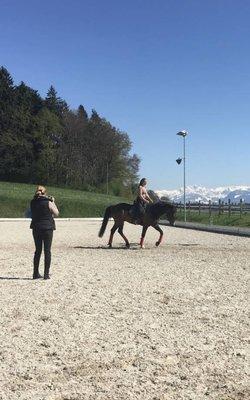 6.-9.04.2018 Klassische Dressur mit Horst Becker im Stall Hundsruggen in 8624 Grüt/CH