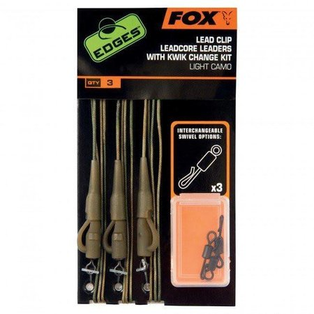 Fox Carp EDGES Lead Clip Leadcore Leaders