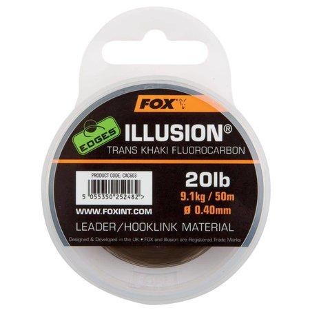Fox Carp EDGES Trans Khaki Illusion Leader