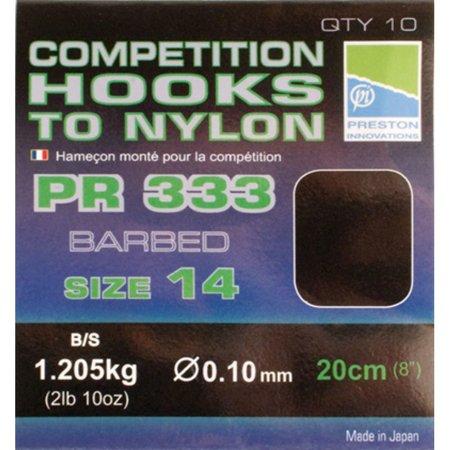 Preston Innovations Competition 333 Hooks To Nylon